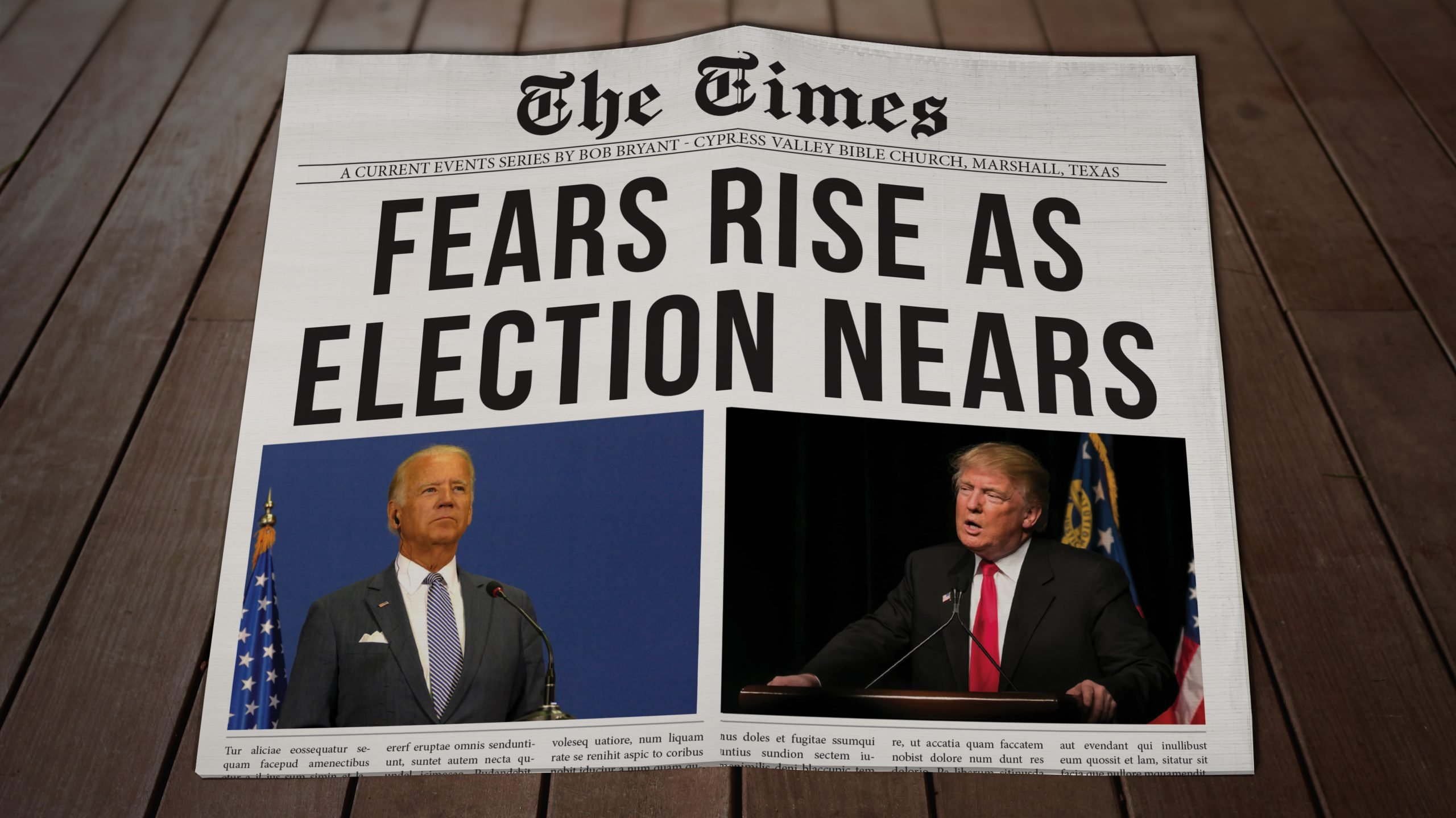 Fears Rise As Election Nears