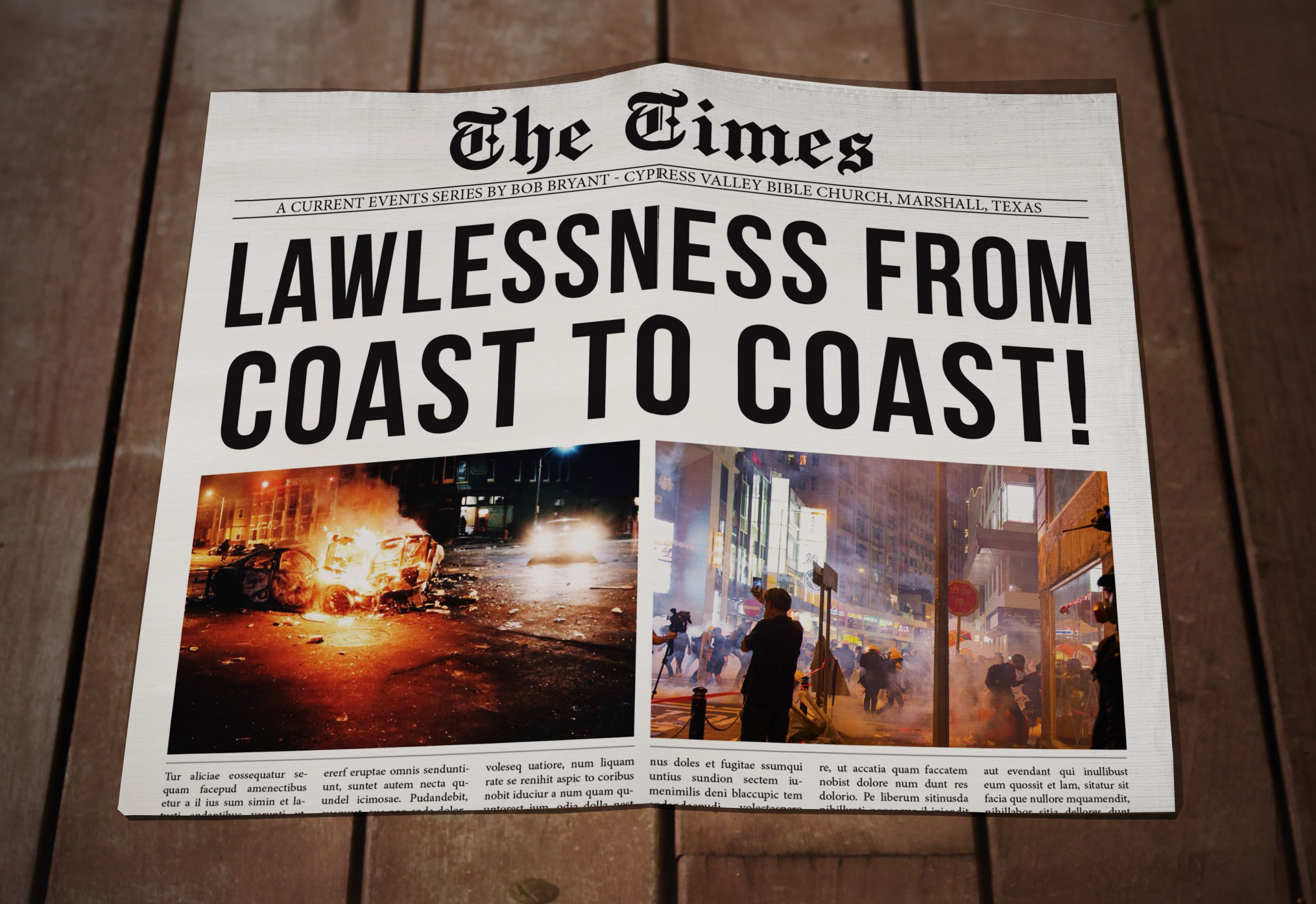 Lawlessness from Coast to Coast